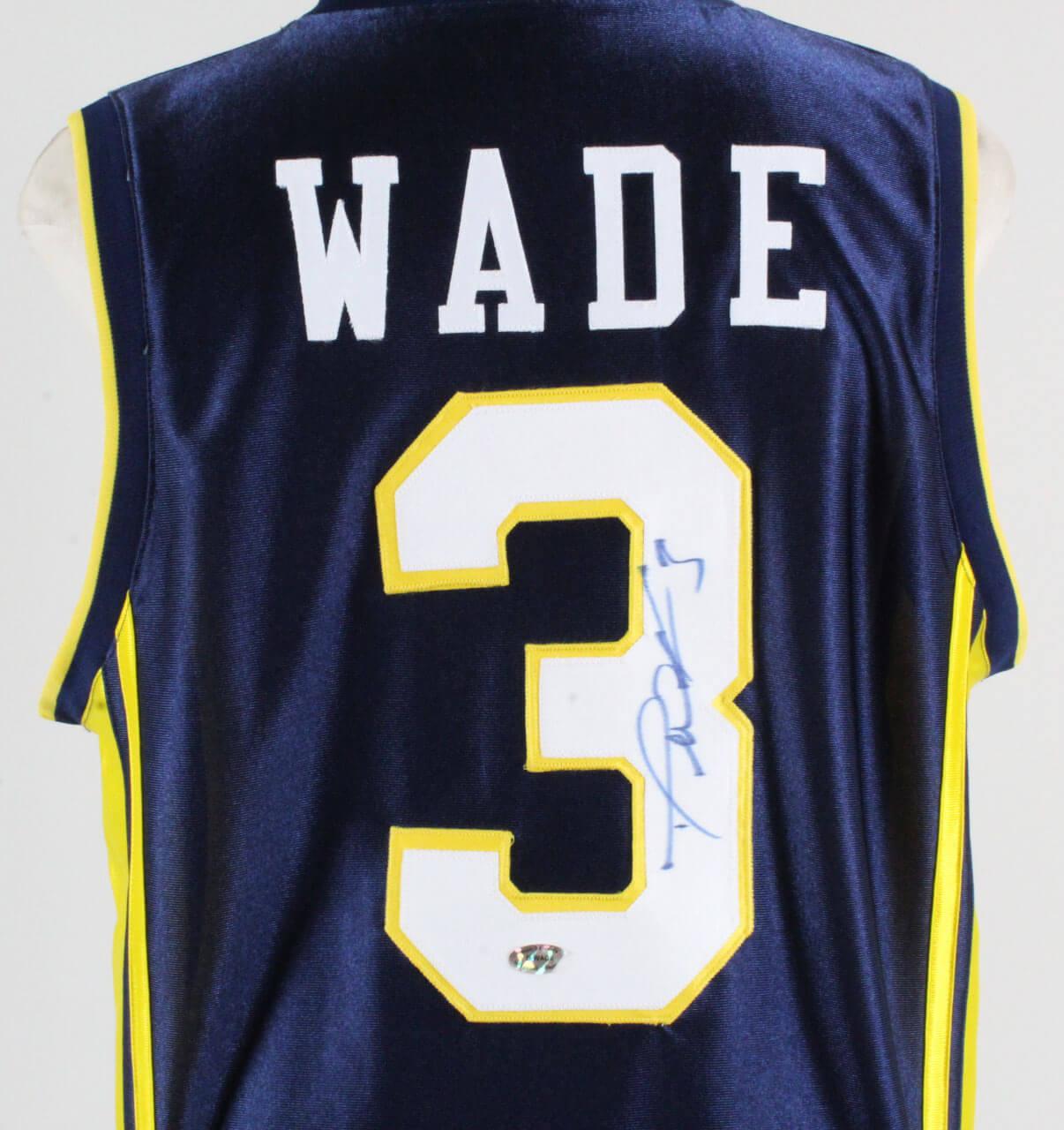 wholesale dealer 99269 1e4d9 Dwyane Wade Signed Jersey Marquette Golden Eagles – COA | Memorabilia Expert