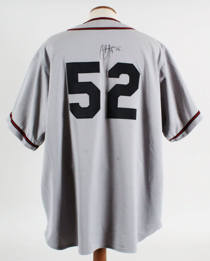 new product 2a0db 2a0ce Details about CC Sabathia Signed Game Worn Jersey Buckeyes - COA JSA & 100%  Authentic Team