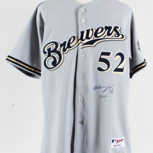Matt Ford Game-Worn Jersey Signed Brewers - COA 100% Authentic Team
