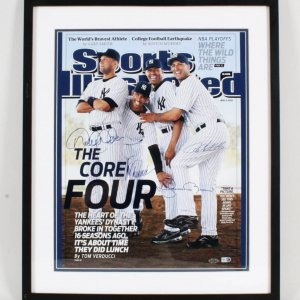 "Derek Jeter Signed Photo Display ""Core Four"" - COA Steiner"