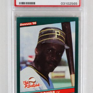 1986 Donruss Barry Bonds Graded RC Card - PSA 10