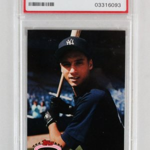 1993 Stadium Club Derek Jeter Graded RC Card Murphy #117 - PSA 10