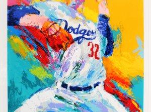 Sandy Koufax Signed Litho w/ LeRoy Neiman - COA JSA