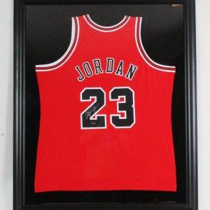 Michael Jordan Signed Jersey Framed Bulls - COA UDA