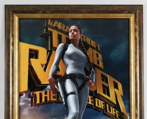 Angelina Jolie Signed Poster Tomb Raider - COA JSA
