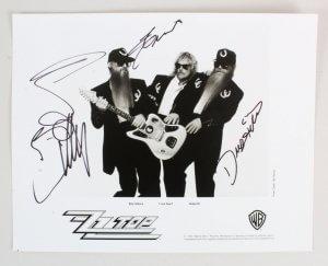 ZZ Top Signed Photo - COA JSA