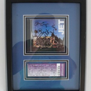 Jet Signed CD Display w/ Ticket - COA JSA