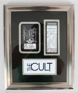 The Cult Signed Backstage Pass Display w/ Ticket - COA JSA