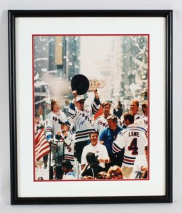 Mark Messier Signed Photo Rangers - COA JSA