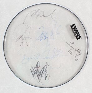 Whitesnake Signed Drumhead Display - COA JSA