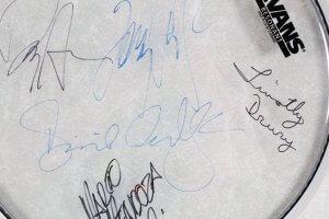Whitesnake Signed Drumhead Display - COA JSA