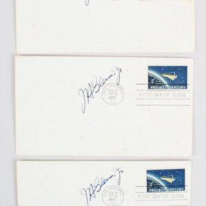 1962 John Glenn Signed FDC Lot (3) Astronaut - COA JSA
