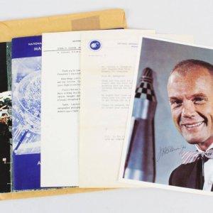 John Glenn Signed Photo w/ Envelope Astronaut - COA JSA