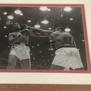 Sonny Liston vs Cassius Clay SIGNED March 7, 1964 Wire Photo JSA