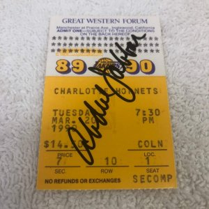 Kareem Abdul-Jabbar Signed Lakers Ticket Stub March 20, 1990 JSA