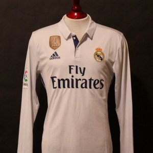 Cristiano Ronaldo Game-Used #7 Real Madrid Home Shirt.  2016/17 Spanish La Liga.