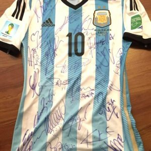 2014 Messi Game-Worn Jersey -Team-Signed -World Cup Argentina #10