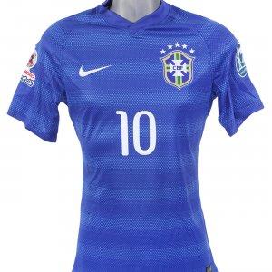 Copa America 2015 Brazil #10 Neymar Game-Worn Jersey x Columbia
