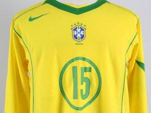 2004-05 Cris Game-Worn Jersey Brazil National Team - COA 100% Authentic Team & Provenance LOA