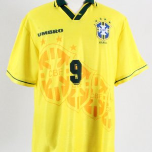 1996 Ronaldo Game-Worn Jersey Brazil National Team - COA 100% Authentic Team