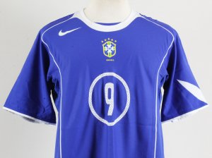2004-05 Ronaldo Game-Worn Jersey Brazil National Team - COA 100% Authentic Team & Provenance LOA