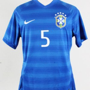 2014 Fernandinho Game-Worn Jersey Brazil National Team - COA 100% Authentic Team