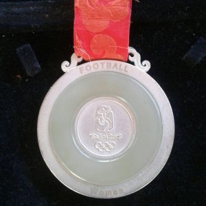 Olympic Games Beijing 2008 Brazil Womens Soccer Second Place Medal