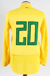 2011 Hulk Game-Worn Jersey Brazil National Team - COA 100% Authentic Team & Provenance LOA