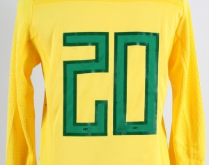 2011 Hulk Game-Worn Jersey Brazil National Team - COA 100% Authentic Team & Provenance LOA