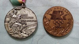 Olympic Games Los Angeles 1984 Brazil Mens Soccer Second Place Medal