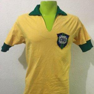 1965 Brazil Game Worn Jersey #7 Garrincha x Belgium