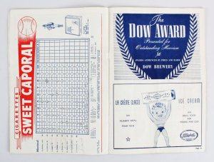 1946 Montreal Royals Program Jackie Robinson