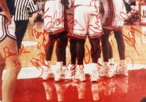 1990 UNLV Rebels Team-Signed Photo - COA JSA