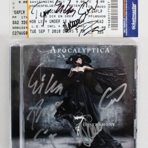 Apocalyptica Signed CD & Concert Ticket - COA JSA