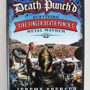 Jeremy Spencer Signed Book Five Finger Death Punch - COA JSA
