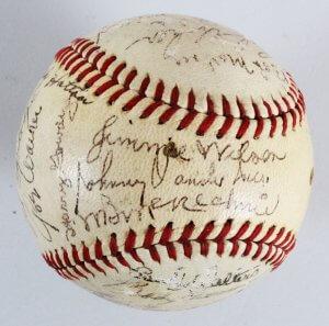 1946 Cincinnati Reds Team-Signed Baseball - COA JSA