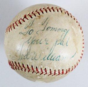 Ted Williams Signed Baseball Red Sox - COA JSA