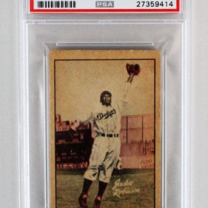 1952 Berk Ross Jackie Robinson Graded Card - PSA