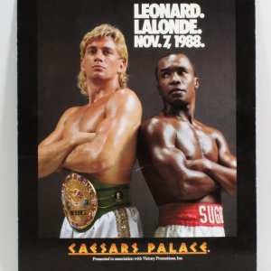 Sugar Ray Leonard Vs. Donny Lalonde Fight Poster