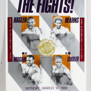 1986 Hagler Vs. Hearns Fight Poster