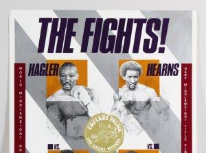 1986 Hagler Vs. Hearns Fight Poster