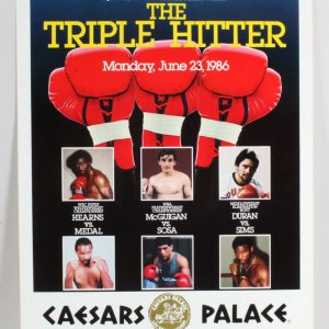 1986 The Triple Hitter Fight Poster