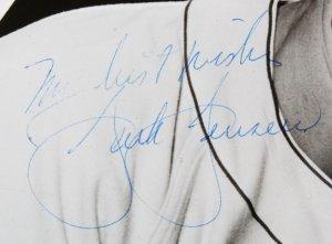 Jackie Jensen Signed Photo Red Sox - COA JSA
