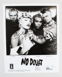 No Doubt Signed Photo - COA JSA