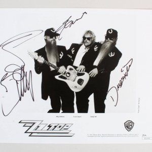 ZZ Top Signed Photo - COA JSA