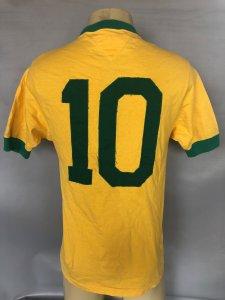 1970 Brazil National Team #10 Pele Game Worn Jersey Signed COA JSA, 100% Authentic Team & Provenance LOA