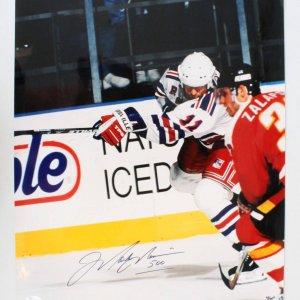Mark Messier Signed Photo Rangers - COA JSA