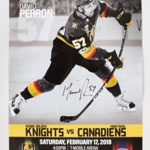 David Perron Signed Poster Golden Knights - COA JSA