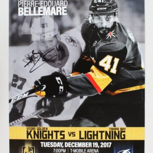 Pierre-Edouard Bellemare Signed Poster Golden Knights - COA JSA