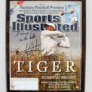 Tiger Woods Signed Magazine Cover - COA JSA